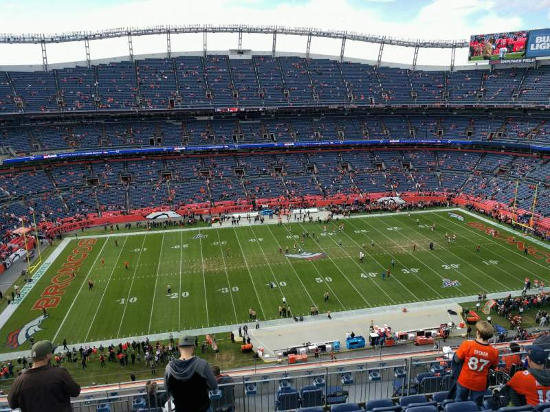 Seating view for Empower Field at Mile High Stadium Section 536 Row 10 Seat 14