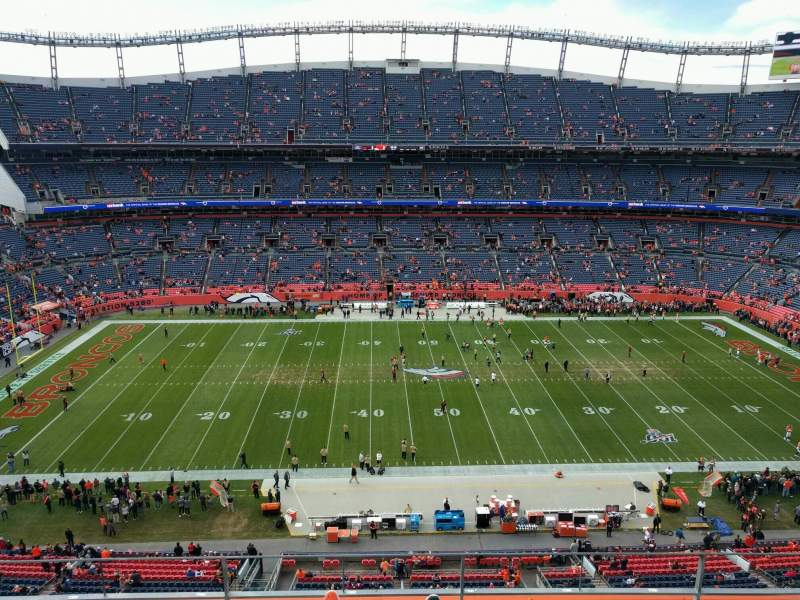 Seating view for Empower Field at Mile High Stadium Section 535 Row 4 Seat 7