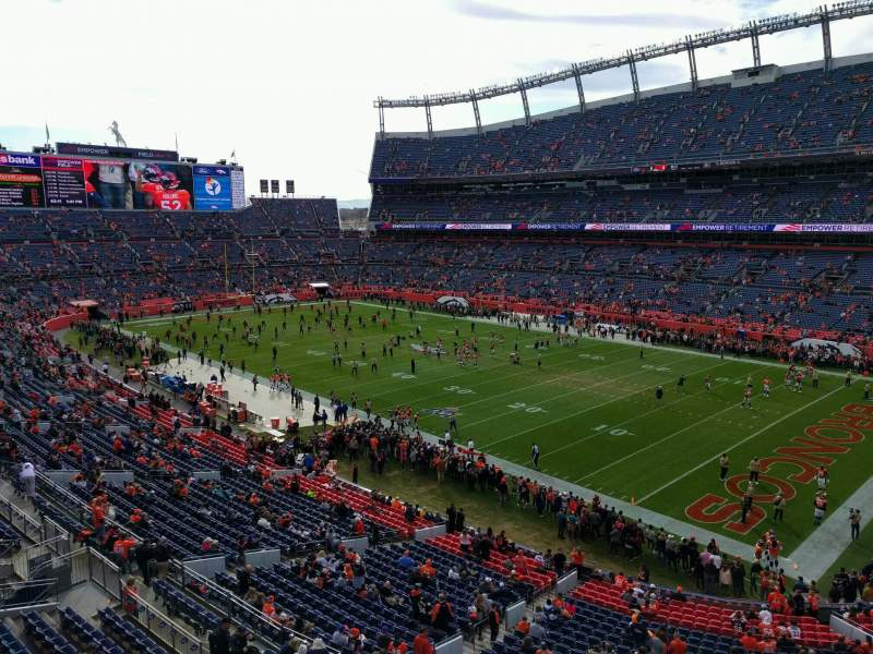 Seating view for Empower Field at Mile High Stadium Section 330 Row 1 Seat 7