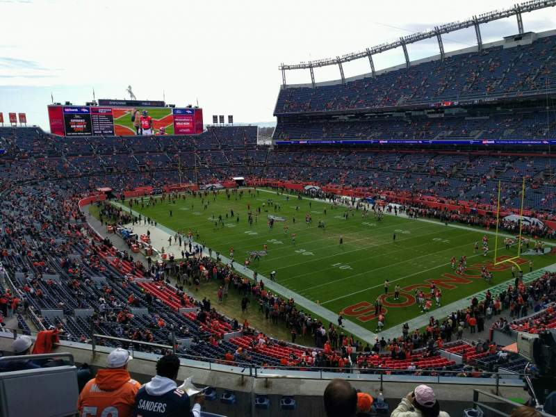 Seating view for Empower Field at Mile High Stadium Section 328 Row 6 Seat 9