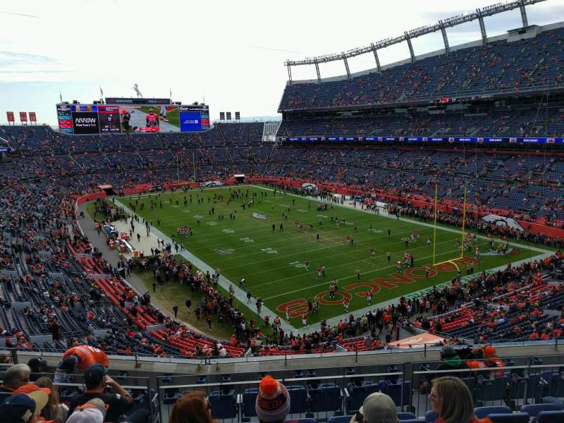 Seating view for Empower Field at Mile High Stadium Section 327 Row 9 Seat 9
