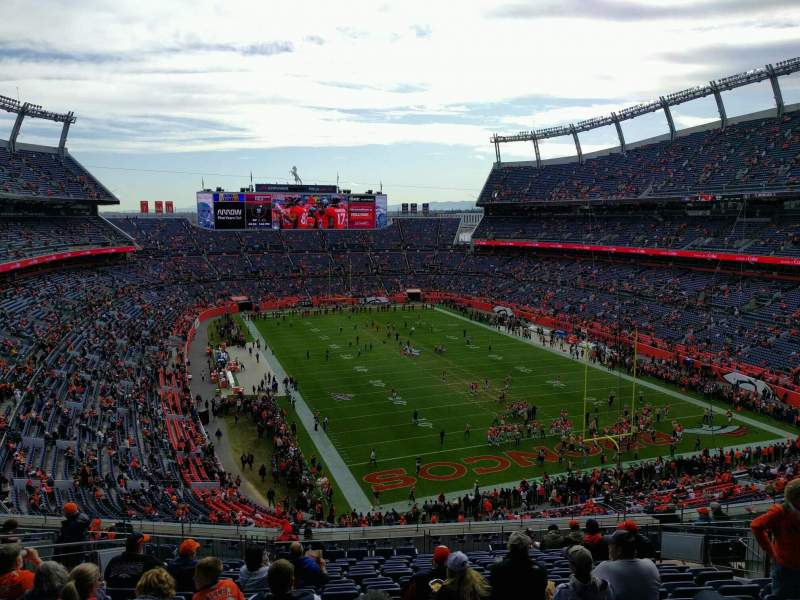 Seating view for Empower Field at Mile High Stadium Section 326 Row 17 Seat 13
