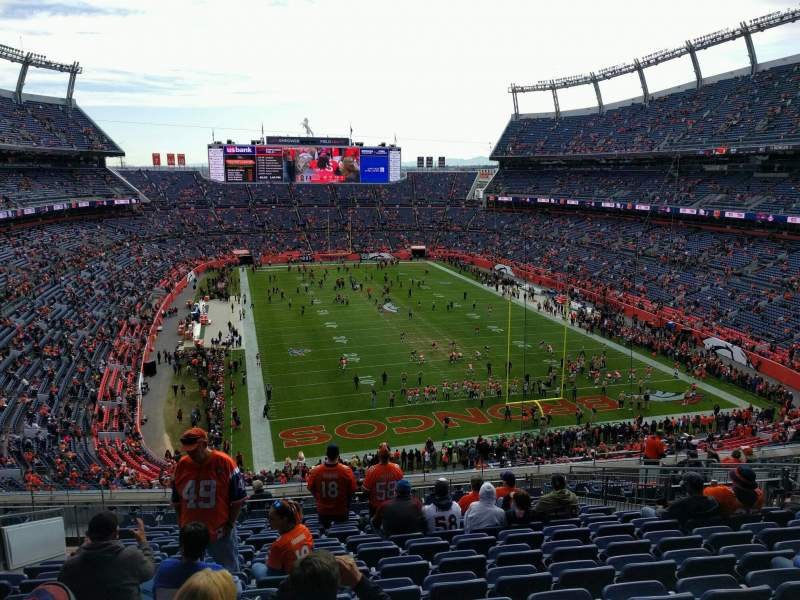 Seating view for Empower Field at Mile High Stadium Section 326 Row 16 Seat 15