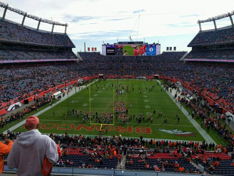 Seating view for Empower Field at Mile High Stadium Section 323 Row 4 Seat 19