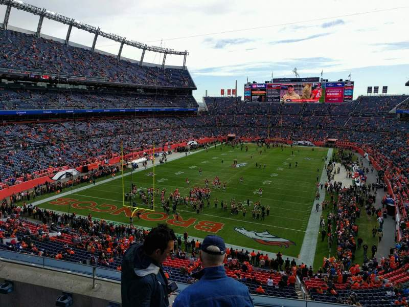 Seating view for Empower Field at Mile High Stadium Section 321 Row 4 Seat 3