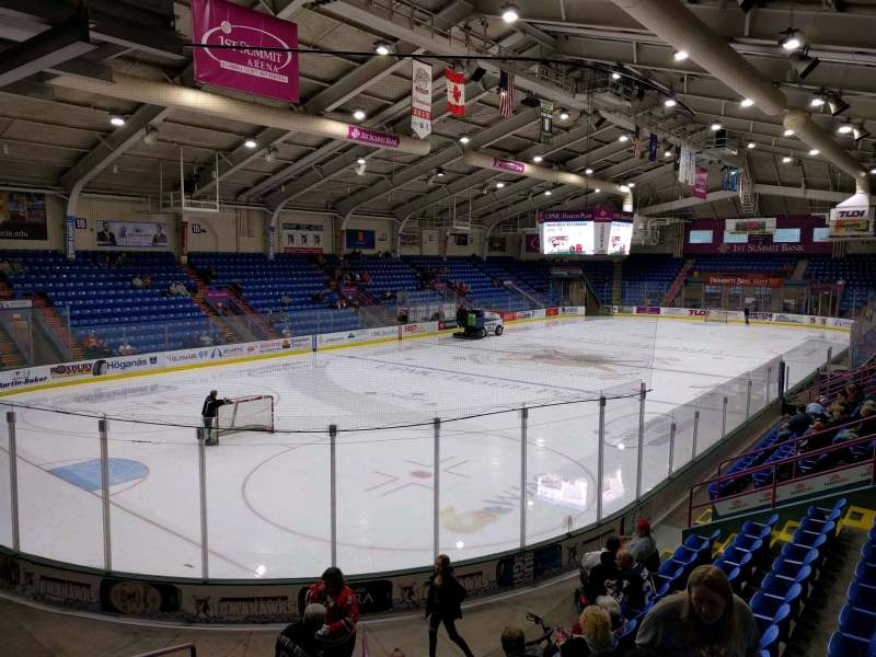 Seating view for 1st Summit Arena Section 22 Row k Seat 11