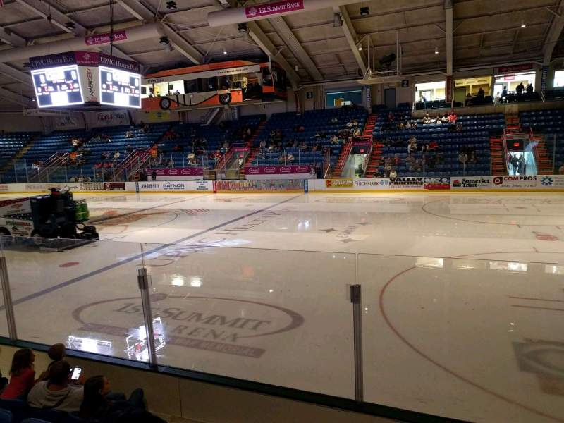 Seating view for 1st Summit Arena Section 16 Row e Seat 11