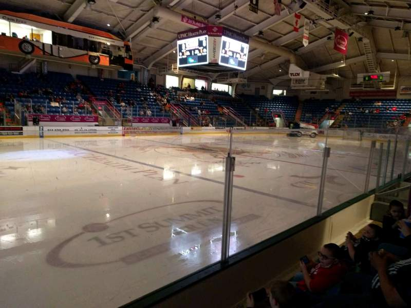 Seating view for 1st Summit Arena Section 13 Row c Seat 7