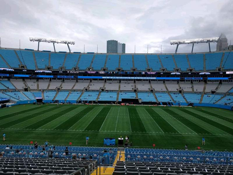 Seating view for Bank of America Stadium Section 343 Row 15 Seat 22