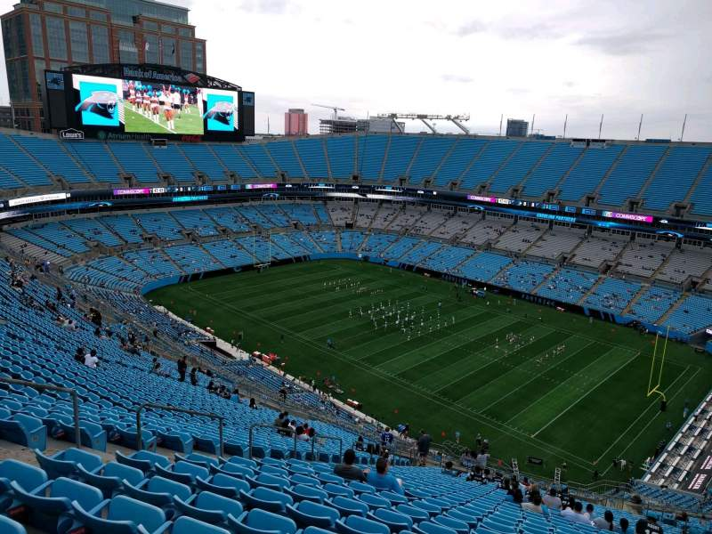 Seating view for Bank of America Stadium Section 509 Row 31 Seat 19