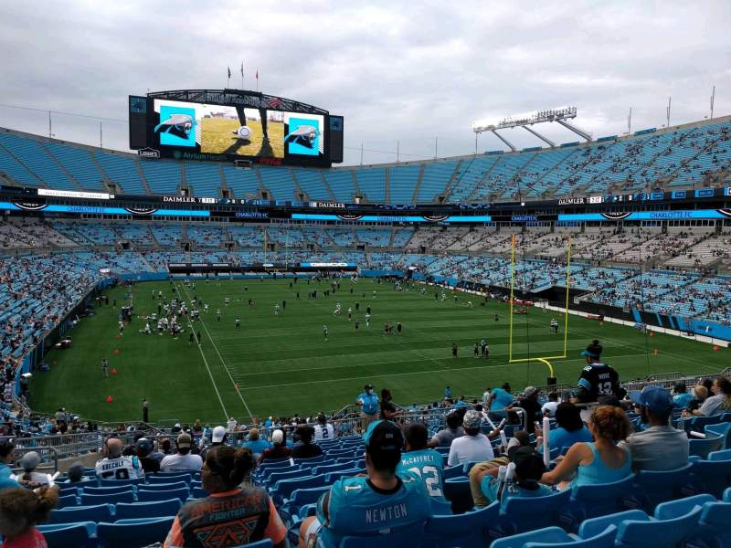Seating view for Bank of America Stadium Section 232 Row 16 Seat 9