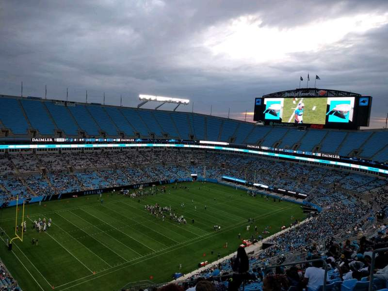 Seating view for Bank of America Stadium Section 521 Row 21 Seat 8
