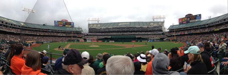 Seating view for Oakland Alameda Coliseum Section 115 Row 11 Seat 5