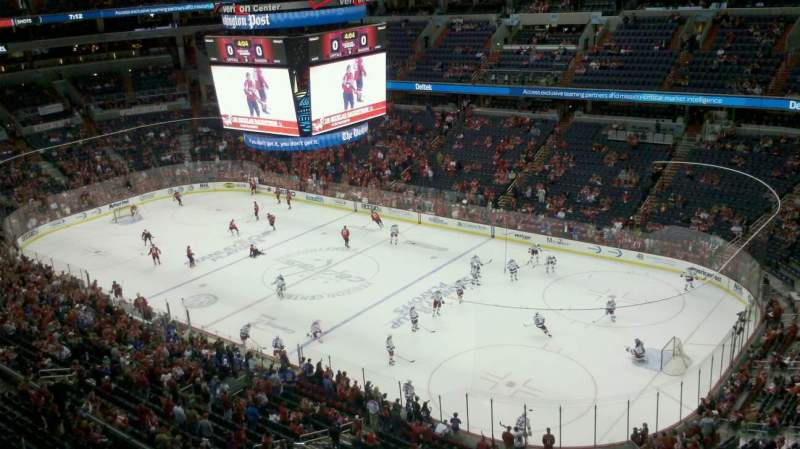 Seating view for Verizon Center Section 404 Row E Seat 9