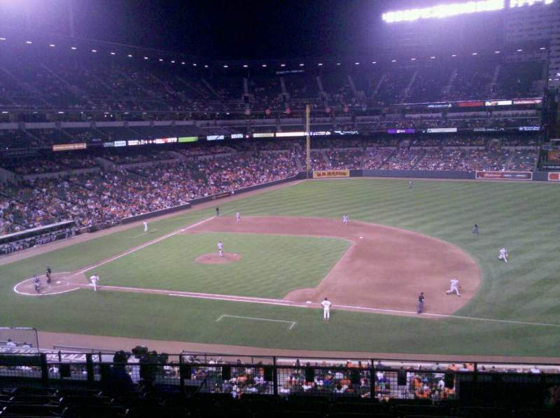 Seating view for Oriole Park at Camden Yards Section 218 Row 8 Seat 15