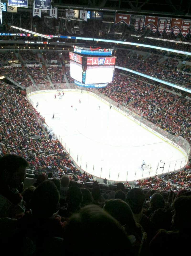 Seating view for Verizon Center Section 406 Row M Seat 7