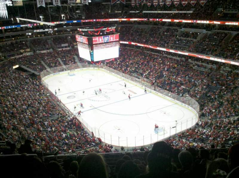 Seating view for Capital One Arena Section 406 Row M Seat 9