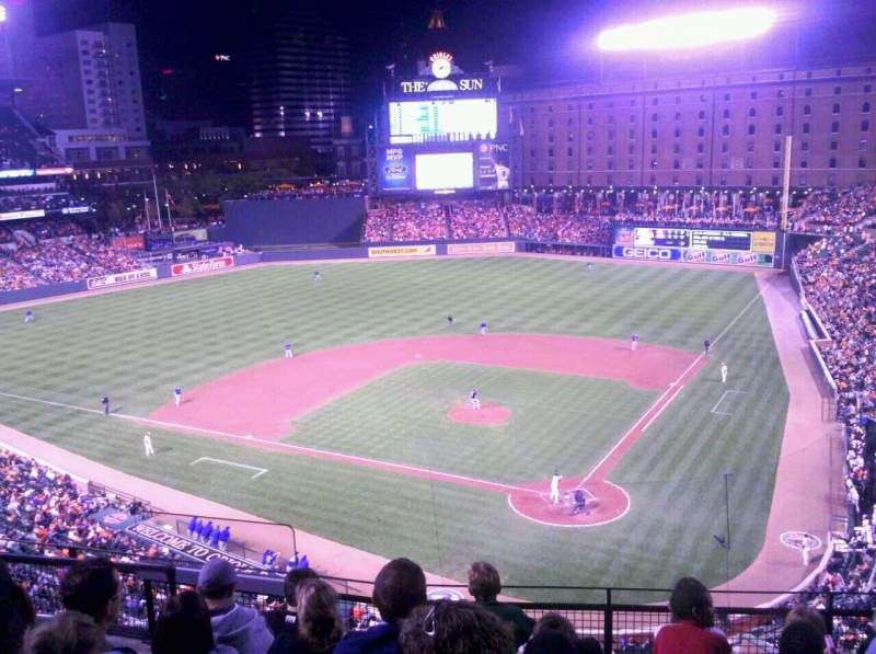 Seating view for Oriole Park at Camden Yards Section 342 Row 6 Seat 11