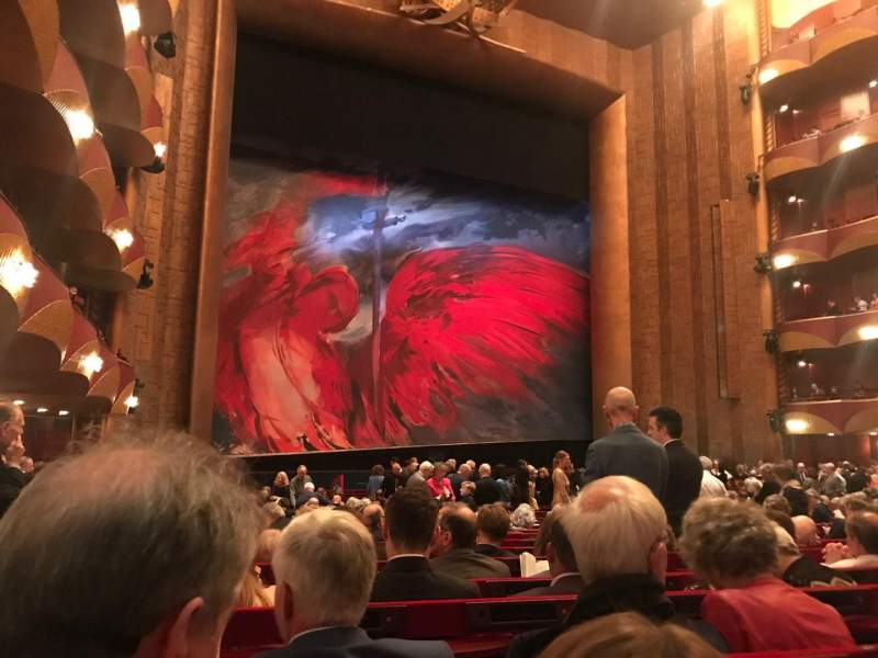 Seating view for Metropolitan Opera House - Lincoln Center Section Orch Row V Seat 19