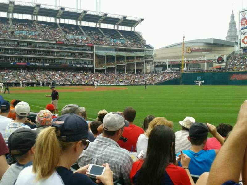 Seating view for Progressive Field Section 128 Row E Seat 1