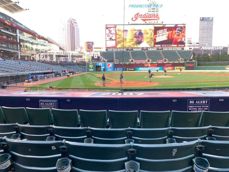 Seating view for Progressive Field Section 151 Row K Seat 4