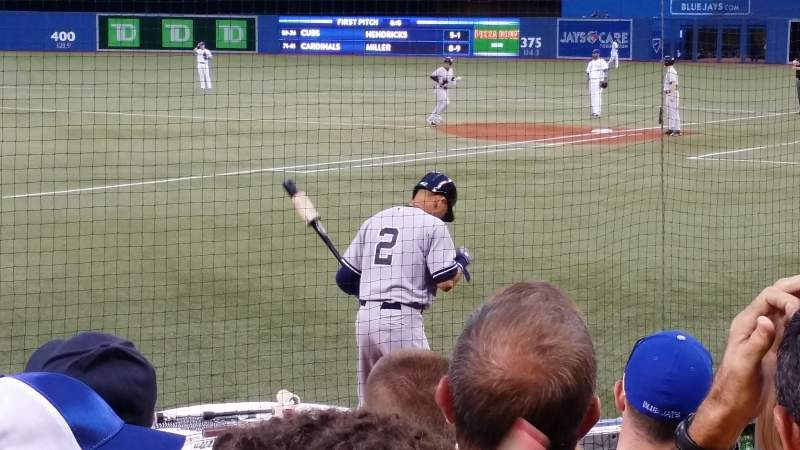 Seating view for Rogers Centre Section 121R/120L Row 9 Seat 9/108