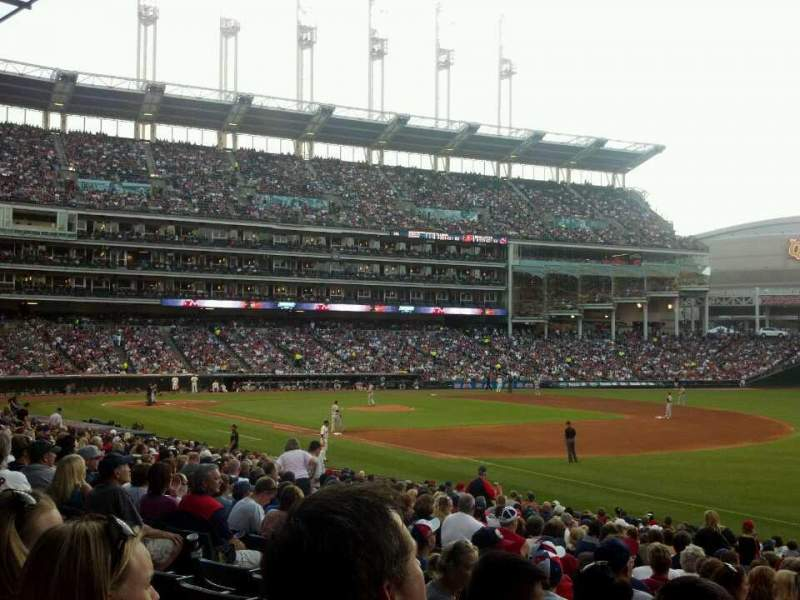 Seating view for Progressive Field Section 130 Row z Seat 2