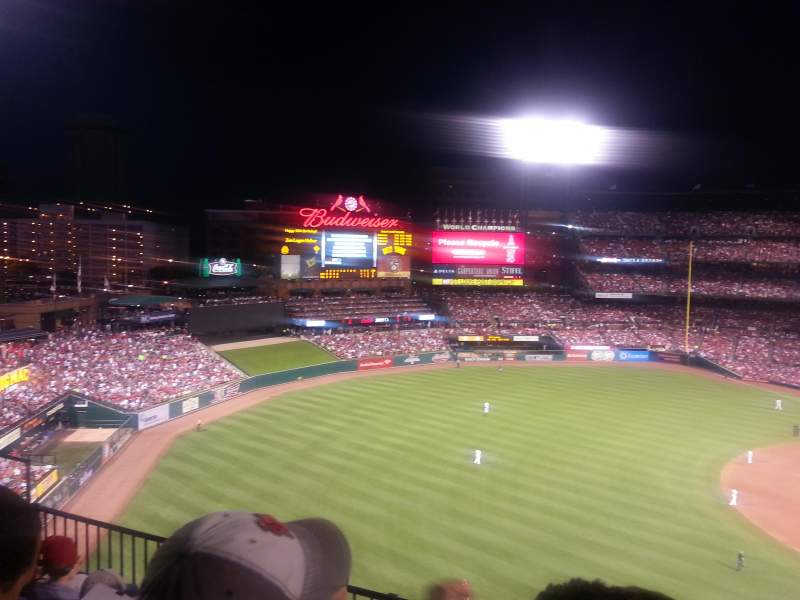 Seating view for Busch Stadium Section 363 Row 4 Seat 15