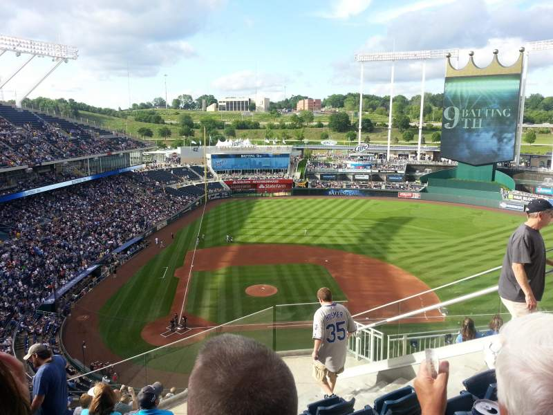 Seating view for Kauffman Stadium Section 427 Row BB Seat 16