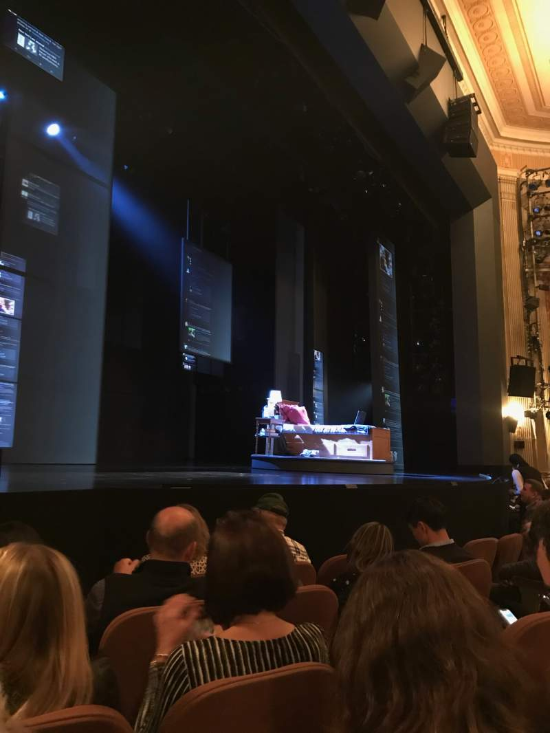Seating view for Music Box Theatre Section Orchestra L Row E Seat 15