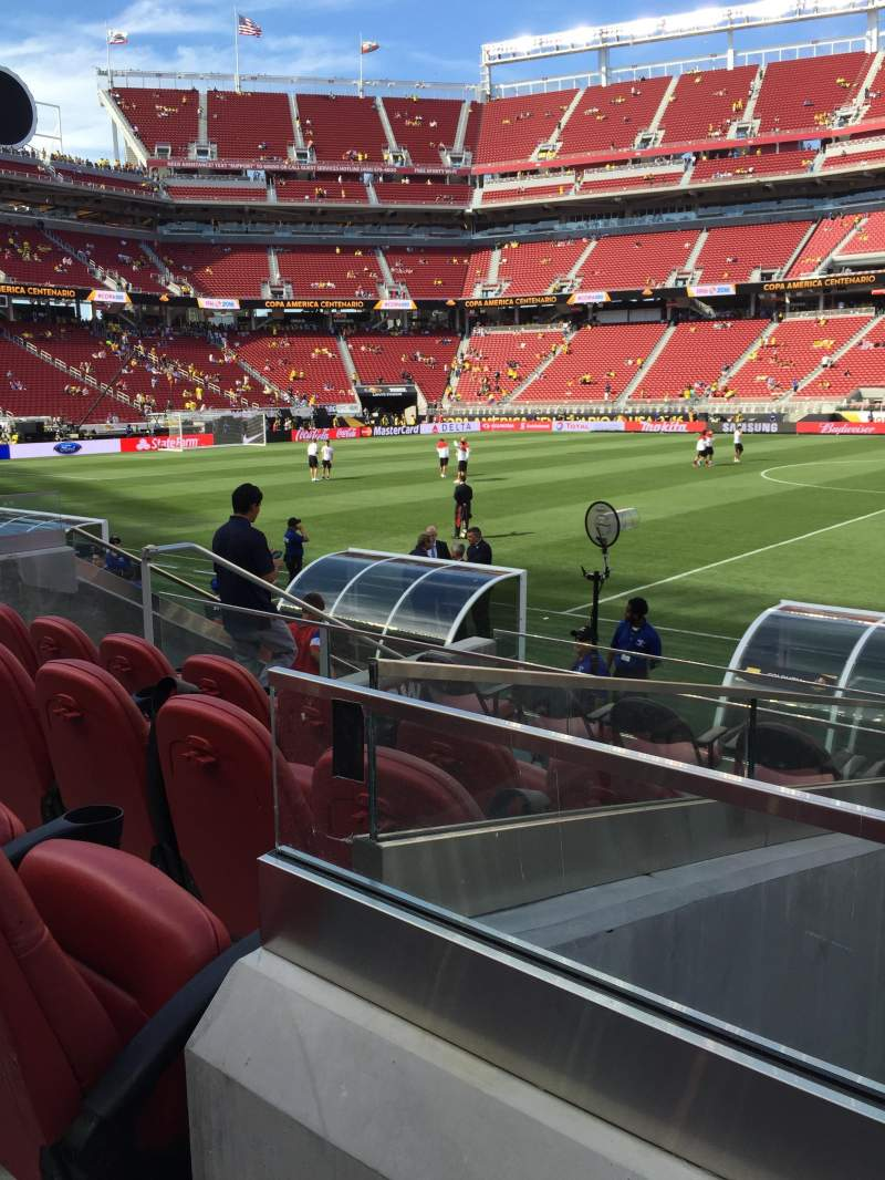 Seating view for Levi's Stadium Section 137 Row 7 Seat 1