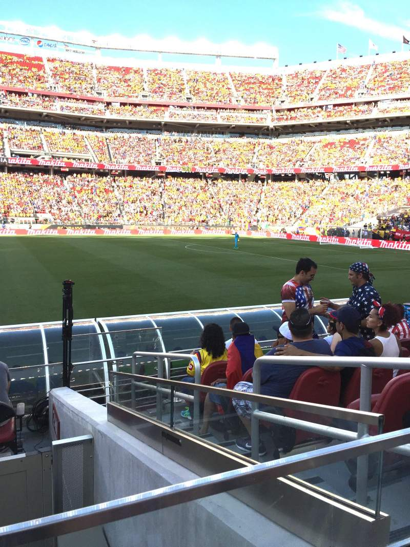 Seating view for Levi's Stadium Section 137 Row 7 Seat 3