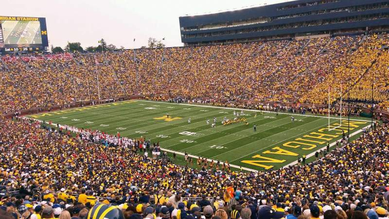 Seating view for Michigan Stadium Section 39 Row 80 Seat 23