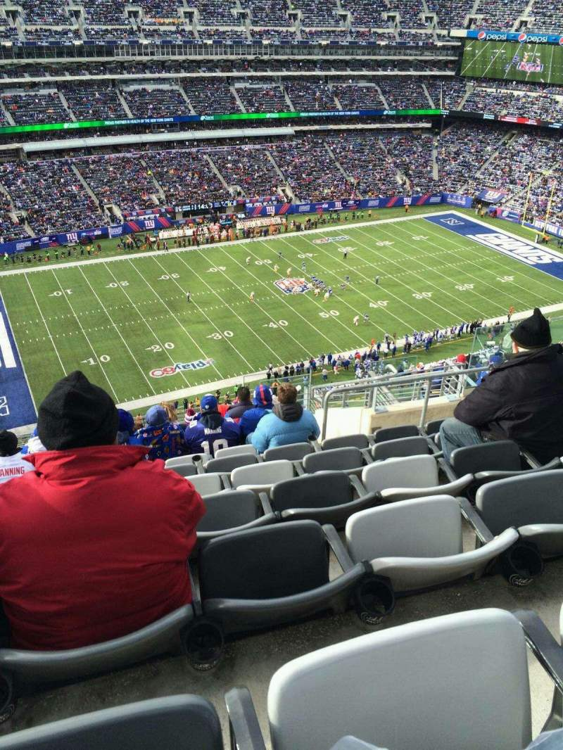 Seating view for MetLife Stadium Section 316 Row 17 Seat 10