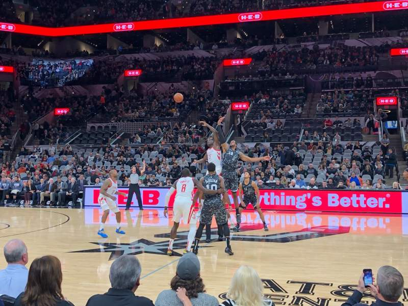 Seating view for AT&T Center Section 22 Row 6 Seat 2
