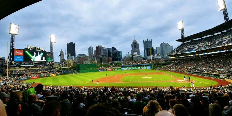 Seating view for PNC Park Section 121 Row AA Seat 8