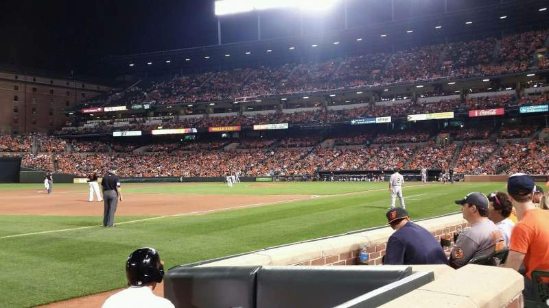 Seating view for Oriole Park at Camden Yards Section 60 Row 1 Seat 5
