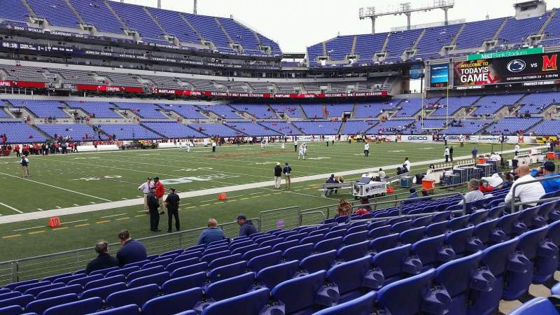 Seating view for M&T Bank Stadium Section 103 Row 11 Seat 14