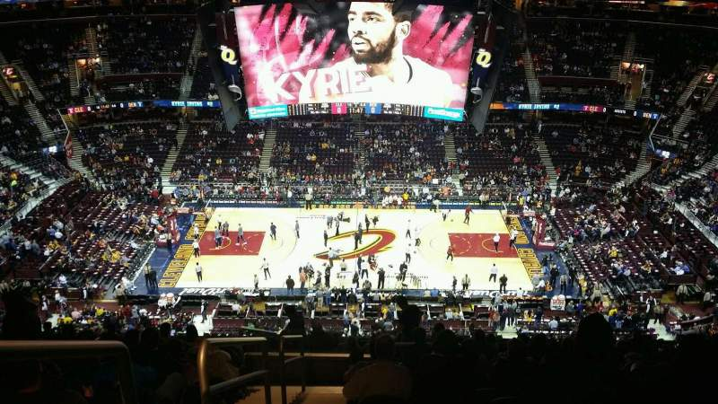 Seating view for Quicken Loans Arena Section 226 Row 17 Seat 1