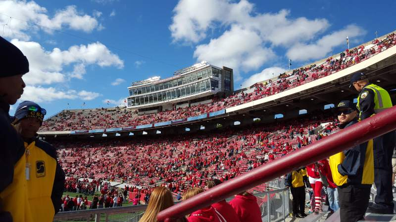 Seating view for Camp Randall Stadium Section G Row 41