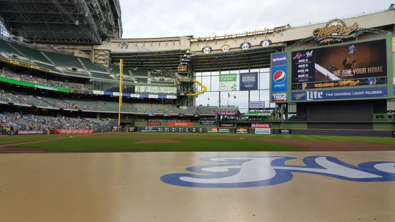 Seating view for Miller Park Section 113 Row 4