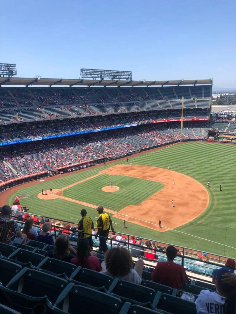 Seating view for Angel Stadium Section 530 Row G Seat 24