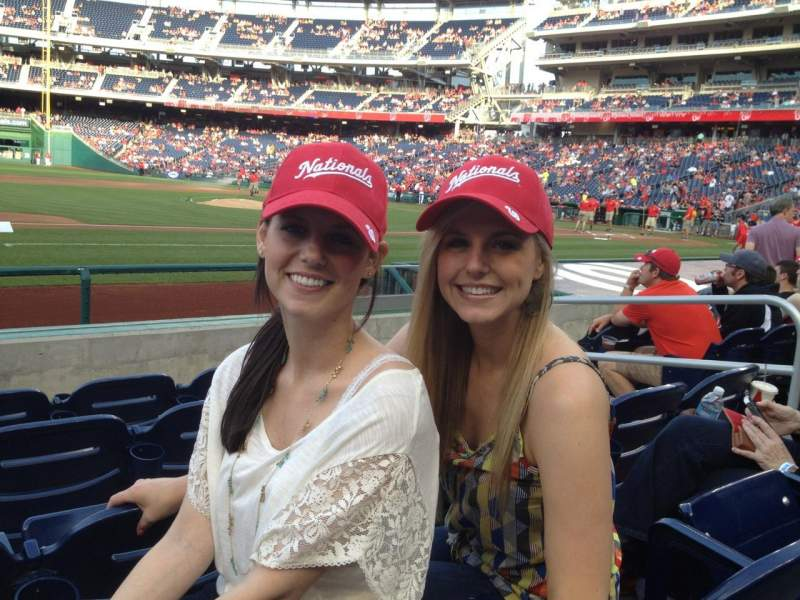 Seating view for Nationals Park Section 115 Row H Seat 5