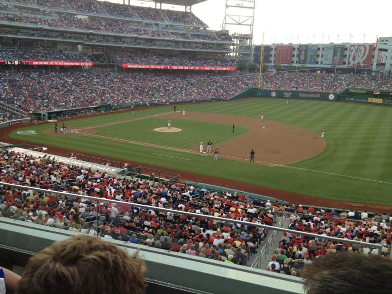 Seating view for Nationals Park Section 221 Row C Seat 1