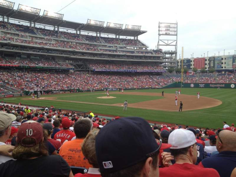 Seating view for Nationals Park Section 132 Row Cc Seat 9