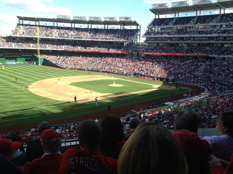 Seating view for Nationals Park Section 205 Row E Seat 5