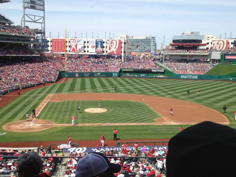 Seating view for Nationals Park Section 218 Row D Seat 15