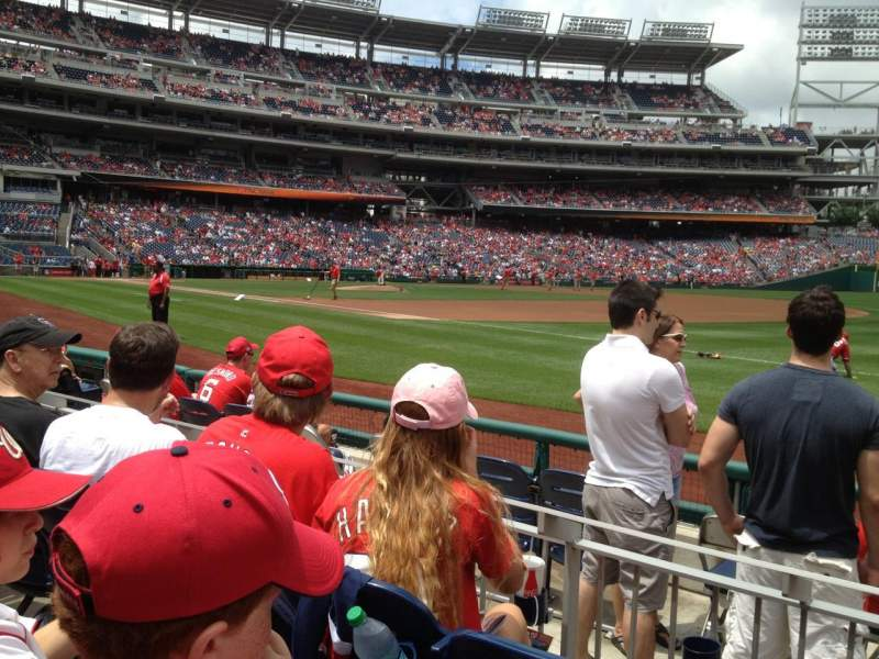 Seating view for Nationals Park Section 133 Row F Seat 7