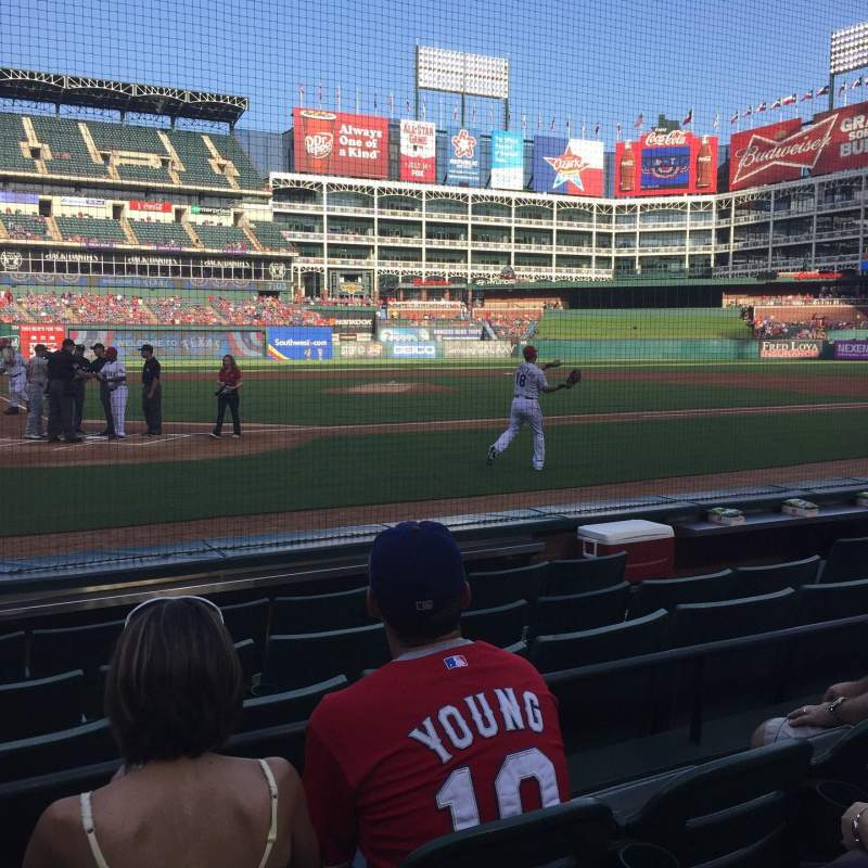 Seating view for Globe Life Park in Arlington Section 30 Row 3 Seat 2