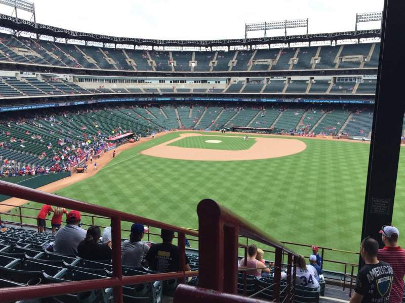 Seating view for Globe Life Park in Arlington Section 250 Row 14 Seat 1